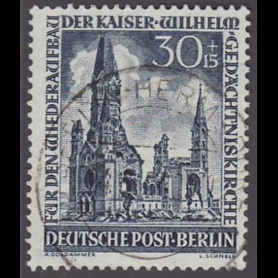 Berlin: 1953, Gedächtniskirche 30 Pfg. Höchstwert