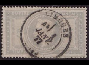 "Frankreich: 1869, 5 Fr. Napoleon (zentr. gest. ""Limoges"", rs. dünne Stelle)"