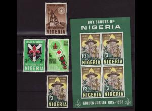 Nigeria: 1965, Pfadfinder (Satz und Blockausgabe)