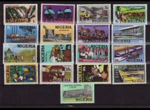 Nigeria: 1973, Freimarken Wirtschaft (17 Werte)