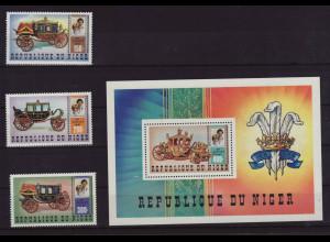 Niger: 1981, Hochzeit Charles/Diana (Motiv Kutschen, Satz und Blockausgabe)