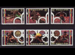 Senegal: 1976, Sommerolympiade Montreal (Sportarten)