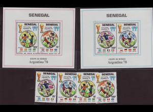 Senegal: 1978, Fußball-WM Argentinien (Satz und Blockpaar)