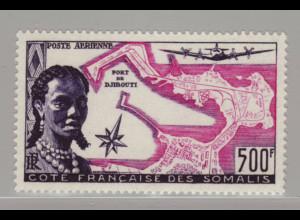 Dschibuti (Franz. Somaliaküste): 1950, Hafen von Dschibuti (M€ 80,-)