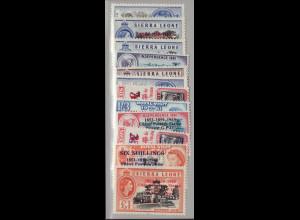 Sierra Leone: 1963, Überdruckausgabe 110 Jahre Postdienst