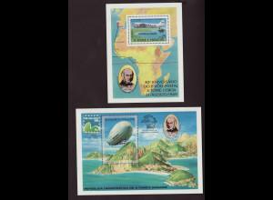 Sao Tomé und Principe: 1979, Blockpaar Flugzeug und Zeppelin (M€ 55,-)
