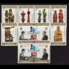 Sao Tomé und Principe: 1981, Schach-WM Zdr.-Streifen Schachfiguren und Gewinner