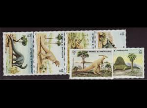 Sao Tomé und Principe: 1982, Dinosaurier (mit Zdr.)
