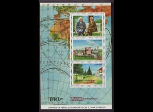 Sao Tomé und Principe: 1990, Blockausgabe Arthur Eddington