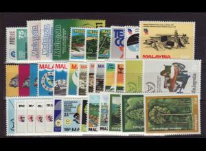 Malaysia: 1979/81, Jahrgänge komplett (ohne Freimarken Tiere)