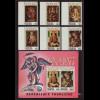 Togo: 1977, Weihnachten (Madonnenbilder, Satz und Blockausgabe)