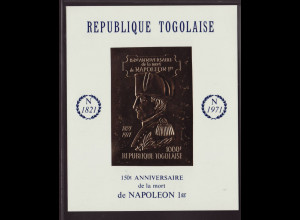 Togo: 1971, Goldblockausgabe Napoleon