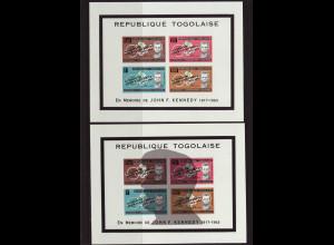 Togo: 1964, Blockpaar John F. Kennedy (M€ 55,-)