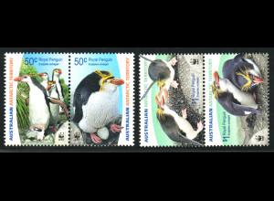 Australische Antarktisgebiete: 2007, Haubenpinguin (WWF-Ausgabe, Zdr.-Paare)