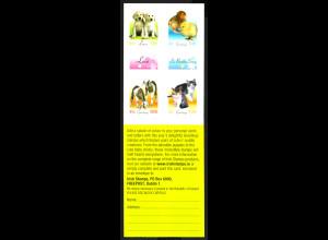 Irland: 2003, Markenheftchen Grußmarken Tiere (selbstklebend)