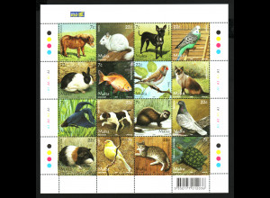 Malta: 2006, Kleinbogen Haustiere
