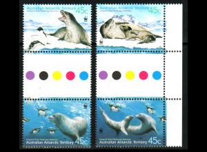 Australische Antarktisgebiete: 2001, Seeleopard (WWF-Ausgabe)
