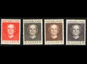 Niederlande: 1949, Freimarken Königin Juliana 1 - 10 Gld. (M€ 1000,-)
