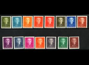 Niederlande: 1949, Freimarken Königin Juliane (postfrisch, M€ 250,-)