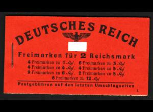 1941, Markenheftchen Hitler (gute Bedarfserhaltung, M€ 130,-)