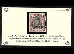 Deutsche Post in China: 1901, Reichspost 80 Pfg., gepr. Steuer BPP