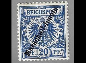 Marshall-Inseln: 1897/99, Krone/Adler 20 Pfg.