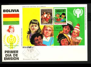 Bolivien: 1980, Blockausgabe Jahr des Kindes (Schmuckersttagsbrief)