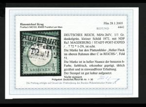 Kl. Brustschild 1/3 Gr. dunkelgrün (Fotobefund Krug BPP)
