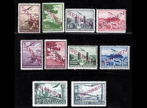 Serbien: 1941, Flugpostausgabe mit Netzaufdruck (postfrisch, M€ 300,-)