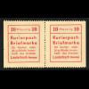 Lauterbach: Kurierpostmarke als waagerechtes Pärchen links und rechts ungezähnt