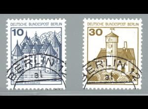 1987, Burgen und Schlösser 10 und 30 Pfg. Letterset
