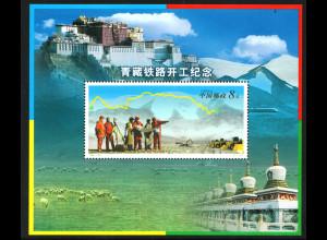 China-VR: 2001, Baubeginn der Eisenbahnlinie