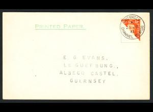 Guernsey: 1941, Freimarke Großbritannien Kat.-Nr. 201 schräg halbiert