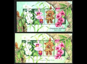 Singapur: 1998, Bockpaar Orchideen (Parallelausgabe Singapur und Australien)