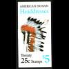 USA: 1990, Markenheftchen Indianer-Kopfschmuck (Kat.-Nr. 2098/2102)
