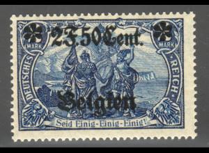 Landespost Belgien: 1916, 2 F. 50 Cent. (26:17 Zähnungslöcher, M€ 100,-)