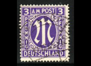 Bizone: 1945, AM-Post 3 Pfg. engl. Druck in besserer Type (gepr. BPP)