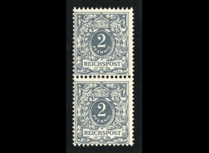 """1900, Krone/Adler 2 Pfg. mit Plattenfehler I: """"G in Reichspost"""""""