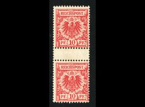 1890, 10 Pfg. postfr. Zwischenstegpaar, (tiefstgepr. Jäschke-L. BPP, M€ 450,-)