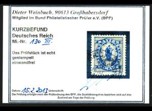 """1920, Bayernabschied 1 1/4 Mk., Plattenfehler: """"fehlender Bruchstrich"""""""