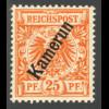 Kamerun: 1897, Krone/Adler 25 Pfg. (gepr. Steuer BPP)