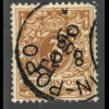 Togo: 1897, Krone/Adler 3 Pfg. hellockerbraun (farbgepr. BPP)