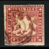 Württemberg: 1861, 9 Kr. bessere Farbe lilarot (farbgepr. Heinrich BPP)