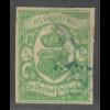 Oldenburg: 1859, Staatswappen 1/3 Gr. blaugrün