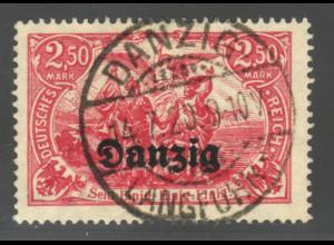 """Danzig: 1920, """"Nord und Süd"""" 2,50 Mk. (zentrisch klar gest. Bedarfsstück)"""