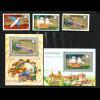 Kambodscha: 1974, 100 Jahre Weltpostverein UPU (Satz und Blockpaar)