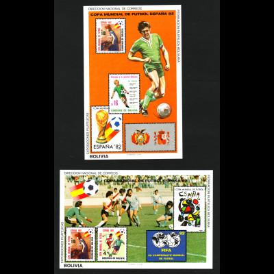 Bolivien: 1982, Blockpaar Fußball-WM Spanien, Spielszenen