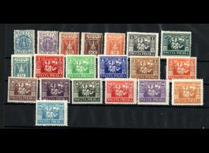 Östliches Oberschlesien: 1923, Freimarken (beide reguläre Ausgaben)
