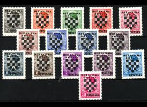 Kroatien: 1941, Überdruckausgabe komplett