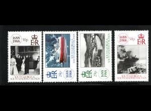 Falklandinseln: Dependencies: 1988, 300 Jahre Lloyds (auch Motiv Schiffe)